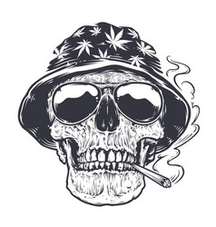 Rastaman skull art vector