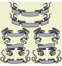 Ribbons and Damaged Ribbons vector image