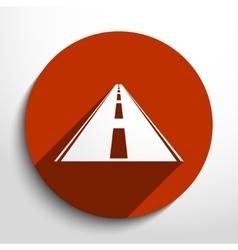 Road web icon vector