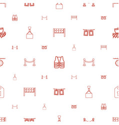 rope icons pattern seamless white background vector image