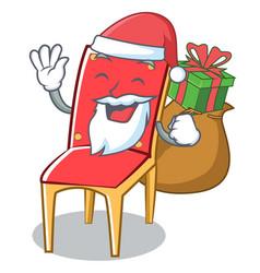 Santa chair character cartoon collection vector