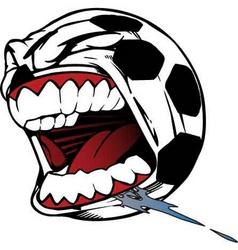 screaming soccer ball vector image