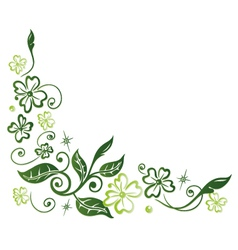 Shamrocks decoration vector