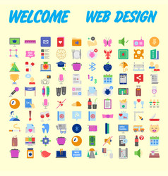 simple set of flat line icons contains such icons vector image