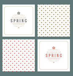 spring typographic posters or greeting vector image