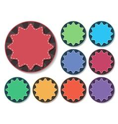 starburst badge vector image
