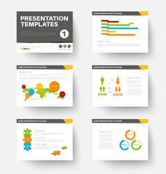 template for presentation slides 1 vector image