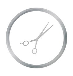 Thinning shears icon in cartoon style isolated on vector