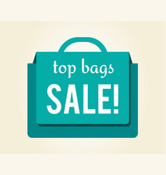 Top bags sale colorful icon vector