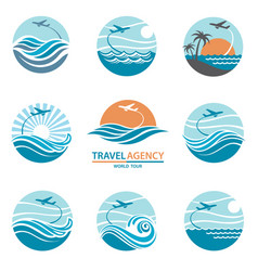 travel logo set vector image