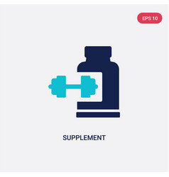 Two color supplement icon from gym and fitness vector