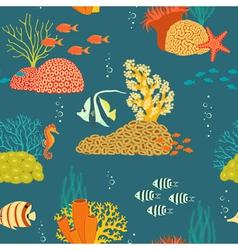 Underwater life pattern vector image