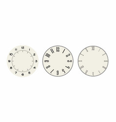 universal set 3 classic dials for wall height vector image
