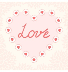 Valentine day card template vector image