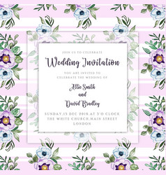 watercolor floral wedding invitation vector image