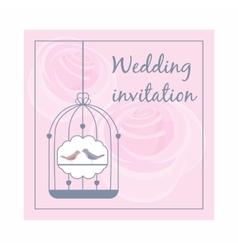 Wedding invitation icon cartoon style vector