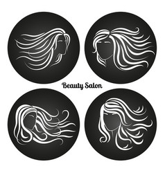 woman beauty salon chalkboard logos vector image