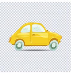 yellow cartoon car vector image