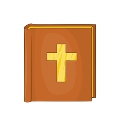 Bible icon in cartoon style vector image