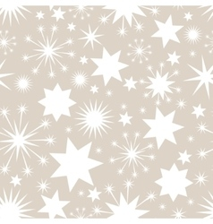 Elegant Christmas seamless background with stars vector image vector image