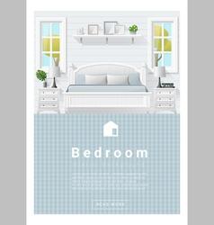 Interior design Modern bedroom banner 9 vector image