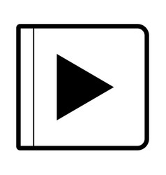 play button icon in black silhouette with thick vector image vector image