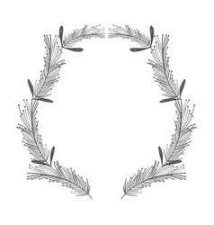 Rustic feathers with plants decoration vector
