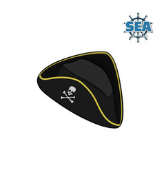Icon of pirate hat in isometric style vector
