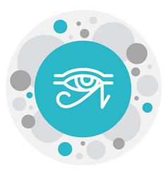 of dyne symbol on horus eye vector image