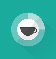 Coffee time flat design vector image