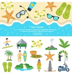 Concept Bali Travel vector image