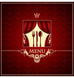 cutlery on the stage vector image vector image