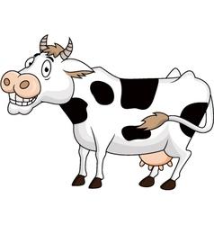 funny cow cartoon vector image