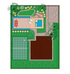 homestead gardening project vector image