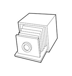 Retro camera icon outline style vector image vector image