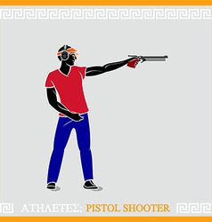 Athlete Pistol shooter vector image vector image