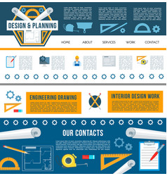 building construction company web page template vector image