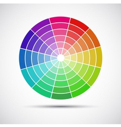 Color round palette on gray background vector image vector image