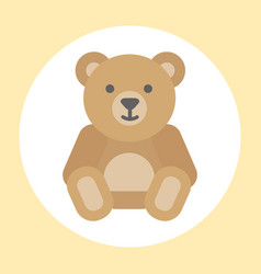 gift toy teddy bear icon baby cartoon character vector image vector image