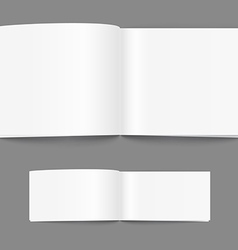 Open book page template vector image