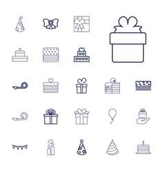 22 birthday icons vector