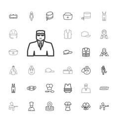 33 uniform icons vector
