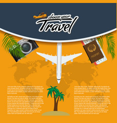 3d realistic travel and tour creative vector