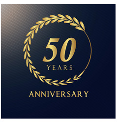 50 years anniversary luxurious logotype ima vector