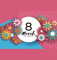 8 march colorful happy women s day trendy mother vector
