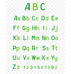 abc green alphabet vector image
