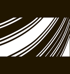 Abstract background black and white curve lines vector