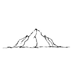 abstract hand drawn image of a mountains vector image