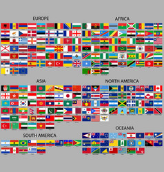 all flags world vector image