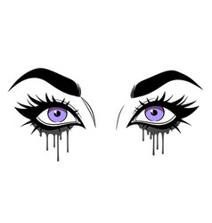 Beautiful female eyes with lush eyelashes vector